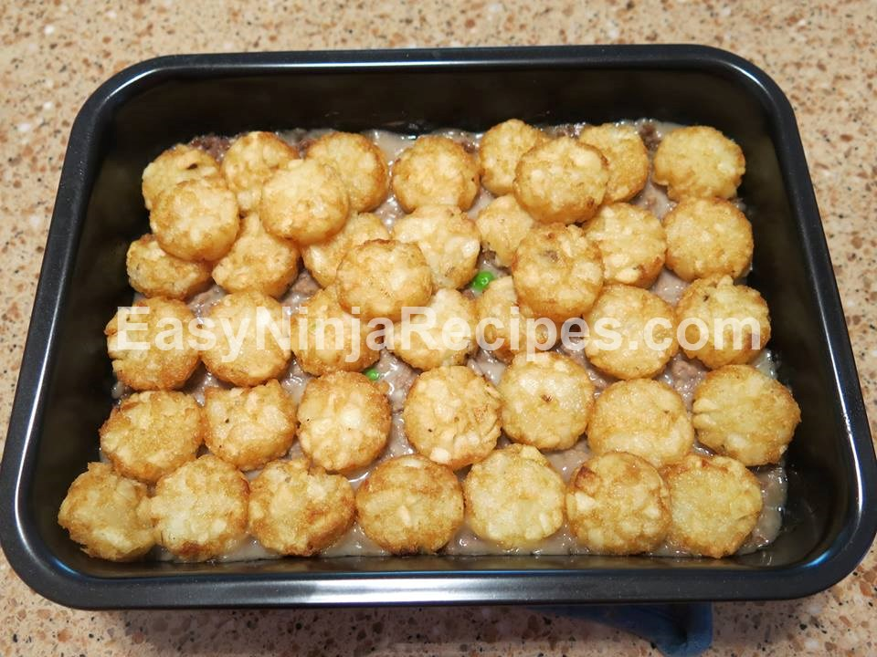 tator tot casserole with potato crownseasy ninja and slow